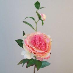 Artificial Tree Peony Flowers Pink Peach - P178 KK1
