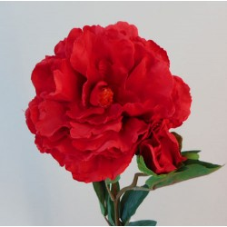 Artificial Tree Peony Flowers Bright Red - P067 M2