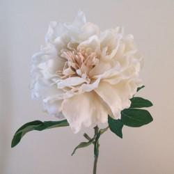 Artificial Peony Flowers Downton Cream - P227 K4