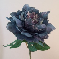 Artificial Peony Flowers Downton Dark Blue - P222 BX5