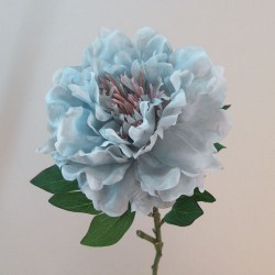 Artificial Peony Flowers Downton Light Blue - P221 K4