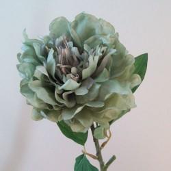 Artificial Peony Flowers Downton Sage Green - P223 KK2