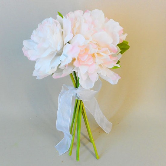 Fleur Artificial Peony Flowers Hand Tied Posy Pink - P041