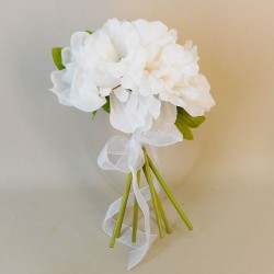 Fleur Artificial Peony Flowers Hand Tied Posy Cream - P040 EE3