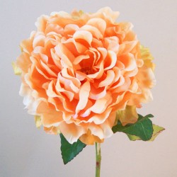 Large Artificial Peony Mango Peach - P204 K1