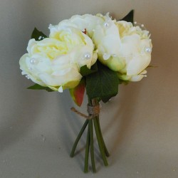 Peonies and Pearls Posy Cream - P247 M1