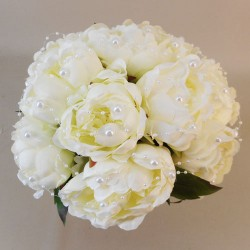 Peonies and Pearls Posy Large Cream - P244 M4