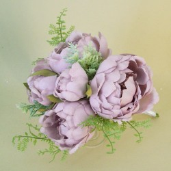 Romance Peony Flowers Bouquet Lilac - P189 EE2