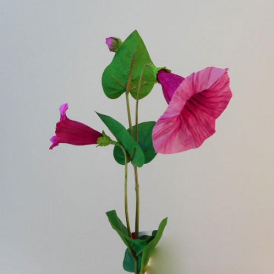 Artificial Morning Glory Bindweed Vines Dark Pink Flowers - M062 J1