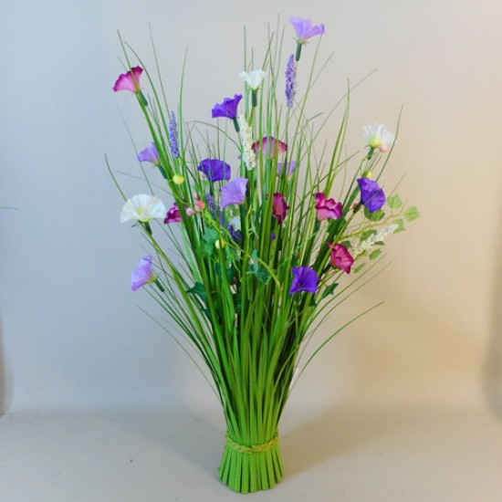Grass Bundle with Petunias and Berries - MED010 EE1