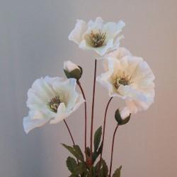 Artificial Poppies Blush Peach  - P177