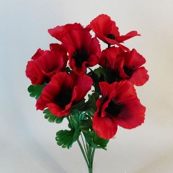 Fleur Artificial Poppy Bunch Red - P098 HH4