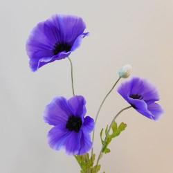 Artificial Poppies Purple - P249 K3