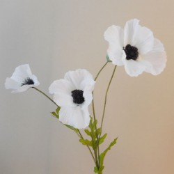 Silk Poppies White & Black - P070 K3