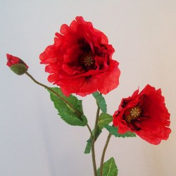 Luxury Artificial Oriental Poppies Red - P147 L4