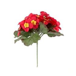 Artificial Primula Plants Red - P035 K4
