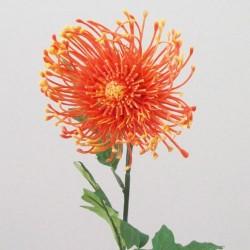 Artificial Leucospermum Protea Orange - L115 H2