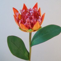 Artificial Protea Orange - P045 J3
