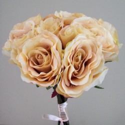 Antique Roses Bouquet Champagne Peach - R235 HH1
