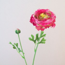 Artificial Ranunculus Flowers Candy Crush Pink - R066 LL2