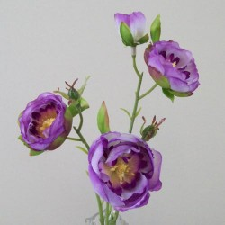 Artificial Ranunculus Flowers Purple Open - R414 P2