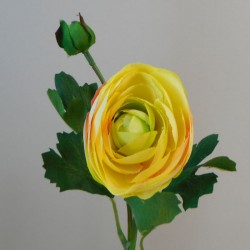Artificial Ranunculus Flowers Yellow - R169 O4