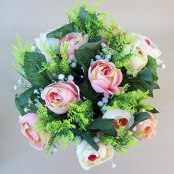 Artificial Ranunculus and Gypsophila Bouquet Pink and Cream - R563