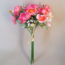 Fleur Artificial Ranunculus Bouquet Pink with White Berries - R843
