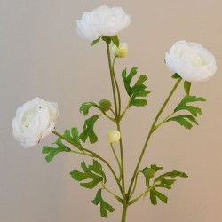 Carnival Ranunculus Cream Artificial Flowers - R564