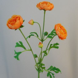Carnival Ranunculus Orange Artificial Flowers - R264
