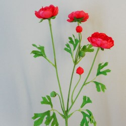 Carnival Ranunculus Watermelon Pink Artificial Flowers - R908 S4