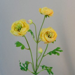 Carnival Ranunculus Yellow Artificial Flowers - R909 S4