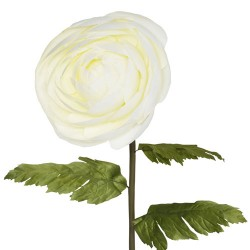 Giant Artificial Ranunculus Cream | VM Display Prop - R865