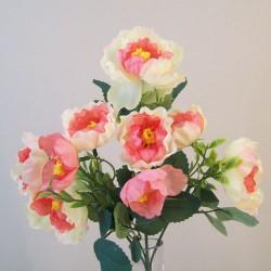 Fleur Artificial Ranunculus Bush Pink - R838 L4