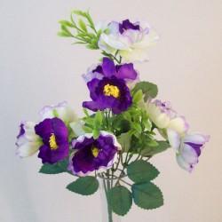 Fleur Artificial Ranunculus Bush Purple - R837 O2