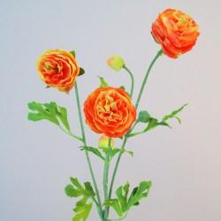 Silk Ranunculus Flowers Orange - R661 N4