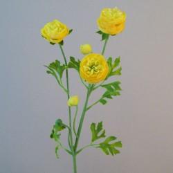 Silk Ranunculus Flowers Yellow - R662
