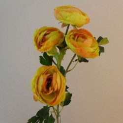 Large Artificial Ranunculus Flowers Mustard - R096 N2