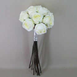 Antique Roses Bouquet Cream Long Stems - R487 P4