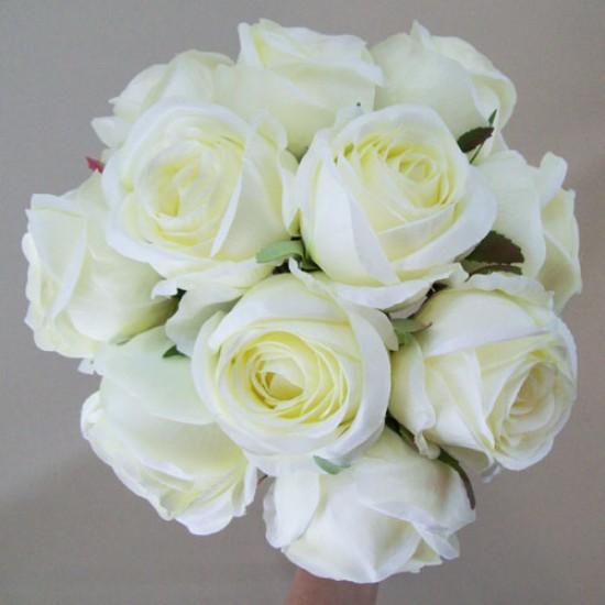 Antique Roses Bouquet Cream Long Stems - R487 P4
