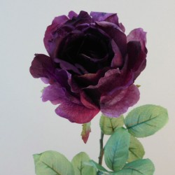 Antique Rose Dusky Aubergine | Faux Dried Flowers - R262 M4