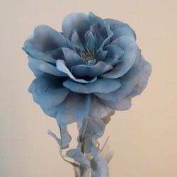 Blown Roses Dusky Blue - R867 Q2