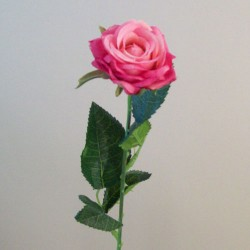 Artificial Button Roses Stem Dark Pink - R684 O4