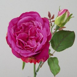 Artificial Cabbage Roses Dark Pink - R424  GG4