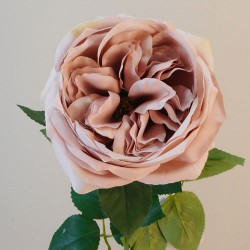 Artificial Cabbage Rose Dusky Pink 60cm - R763