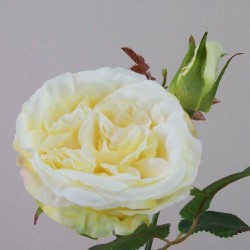 Artificial Cabbage Roses Lemon Drop - R422