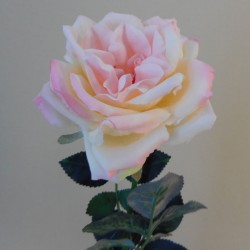 Artificial Cabbage Rose Pale Pink Duchesse de Brabant - R701A N4