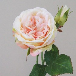 Artificial Cabbage Roses Peach - R420 GG4