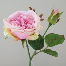 Artificial Cabbage Roses Pale Pink - R421
