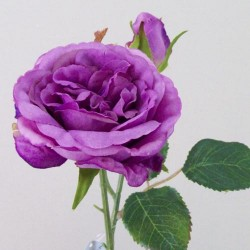 Artificial Cabbage Roses Purple - R423 GG4